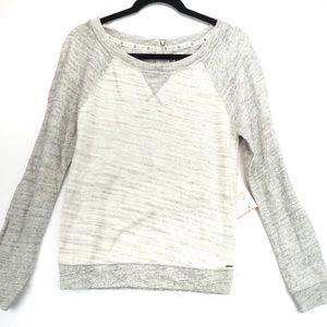NWT Roxy grey free ride zipper sweater small